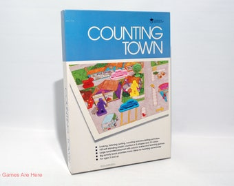 Counting Town Activity Set from Learning Resources 1990 COMPLETE