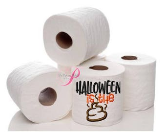 Embroidered Toilet Paper, Halloween Gag Gift, Gag Gift, Embroidered Toilet Paper, Halloween Toilet Paper