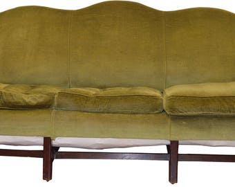 18236 Country Chippendale Camel Back Period Sofa