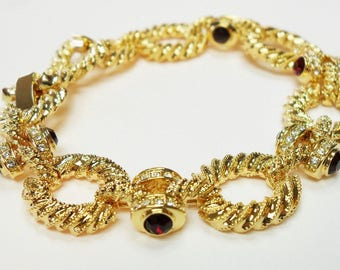 Jackie Kennedy Bracelet with Side Stones - Sz 7 or 8