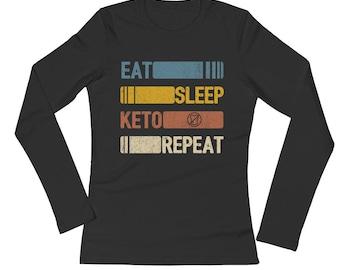 Eat Sleep Keto Diet Repeat Funny Vintage Retro Gift