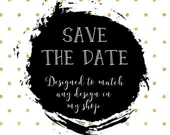 Save the Date Card/Matching save the date/Engagement Save the date postcard/Wedding Save the date/Kraft paper/Printable/Bridal Shower