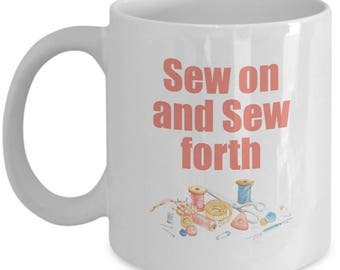 Fun Funny Sewing Mug Gift Machine Seamstress Sew Love Crafting Crafts