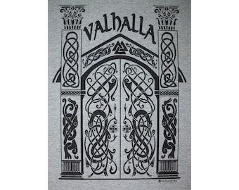Valhalla Norse Heathen Viking Hall of the Fallen Rune T-Shirt BL