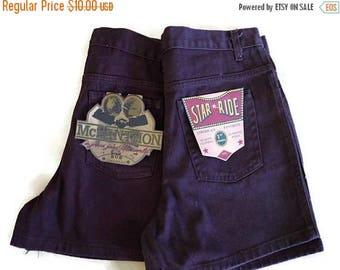 ON SALE Vintage Dark Brown  Denim Shorts from 80's/W32/Dead stock*