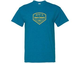 Made in South Dakota T Shirt - Antique Sapphire