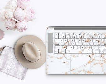 Marble Bianco Sivec Gold Veins - KeyCal Skin Decal & Ultra Thin Keyboard Protector for MacBook Pro Retina , Macbook Air , Macbook Pro 2016