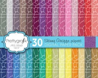 80% OFF SALE giraffe animal print digital paper, commercial use, scrapbook papers, background  - PS596