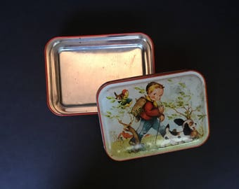 Small Candy Tin -Hummel Children