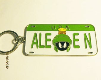 Vintage, Retro Marvin the Martian Key Ring - For a fan of the little green guy!  - estate find