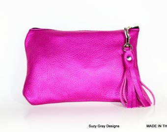 Hot pink clutch   Etsy