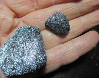 2 pieces of Specular Hematite - grounding