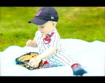 Kids Baseball Uniform,Pinstripe Baseball Uniform,Sportswear, Boys Baseball Photo Prop/Boys 1st Birthday/Baseball Mascott/MYSWEETCHICKAPEA