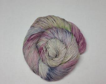 Petunia Hand Dyed Superwash BFL Nylon Fingering Weight Yarn