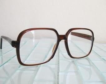1960s Brown Nerd Frames JAPAN - Diamond Lite