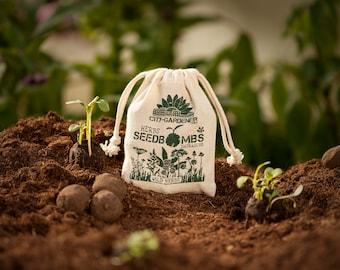 """Seed Bombs """"Wild Herbs"""", 10 walnut sized & handmade seed balls"""