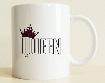 Queen Mug | Custom Gift For Her |  Coffee Mug | Gift for Woman | Engagement Prop | Wedding Gift | Newly Wed | Fiance | Christmas