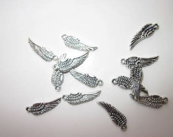 6 charms silver wing 15mm (1993