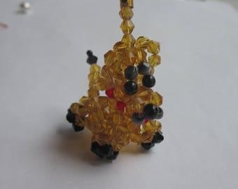 1 dog charm and glass beads - 21 mm high (6)