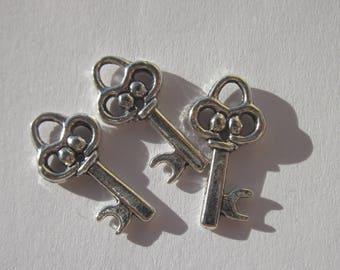 3 charms 2 cm key - (6104).