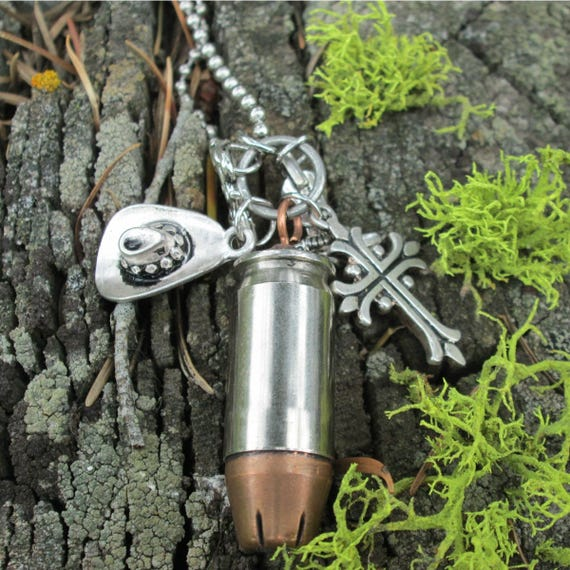 45 Caliber Bullet Charm Necklace