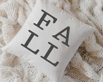Throw Pillow -FALL, calligraphy, home decor, fall decor, housewarming gift, cushion cover, throw pillow, seasonal pillow