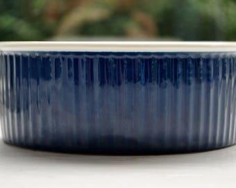 Copco by Michael Lax Cobalt Blue Casserole Souffle Dish