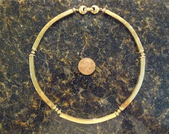 Beautiful Vintage Monet Gold Tone Segment Necklace