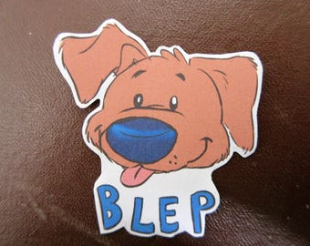 Cute dog sticker - blep - tumblr - internet - meme