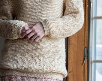 Knit Sweater Knitting Pattern - HEAVENLY COMFORTS