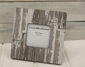 whitewashed picture frame farmhouse style frame white washed wood shabby chic picture frame - Whitewashed Picture Frames
