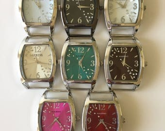 Ribbon Watch Faces for Double Stranded Beaded Watch Bands (5977)