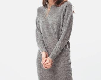 Sweater dress / Knit dress / Alpaca dress / Wool dress / Casual dress / Cosy dress / Nove dress