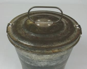 Vintage West Germany Steamed Pudding Cake Jello Mold 2 Pc Tin/Metal With Lid