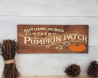 Wood Sign, Fall Sign, Pumpkin Patch Sign, Fall Decor, Autumn Sign, Autumn Decor, Halloween Sign, Thanksgiving Sign, Pumpkin Sign