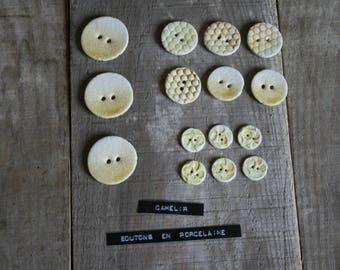 ref 015 porcelain 15 buttons
