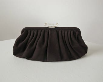 1940s VINTAGE Purse / Wristlet / Clutch / 40s Handbag / Chocolate / Evening Bag