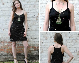 Beaded Mesh Party Dress DAMAGED