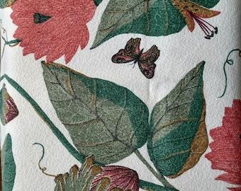 Retro look barkcloth fabric , Chris Stone, lotus barkcloth, drapery fabric