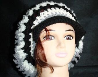 multicolored hat, crochet, very hot 7