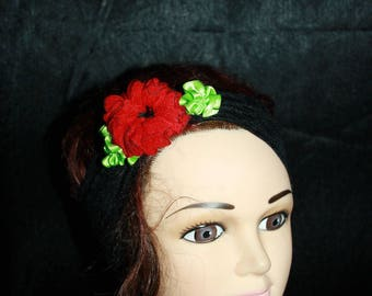 Black Lace elastic headband