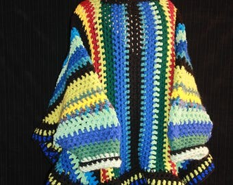 original poncho with sleeves and hood