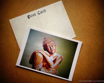 Card A6 postcard 'Buddha' to the Touch'Turkoiz