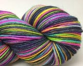 RESERVED for Crazy babi blue Self striping sock yarn- Blue Jeans and tie dyed T-shirts colorway