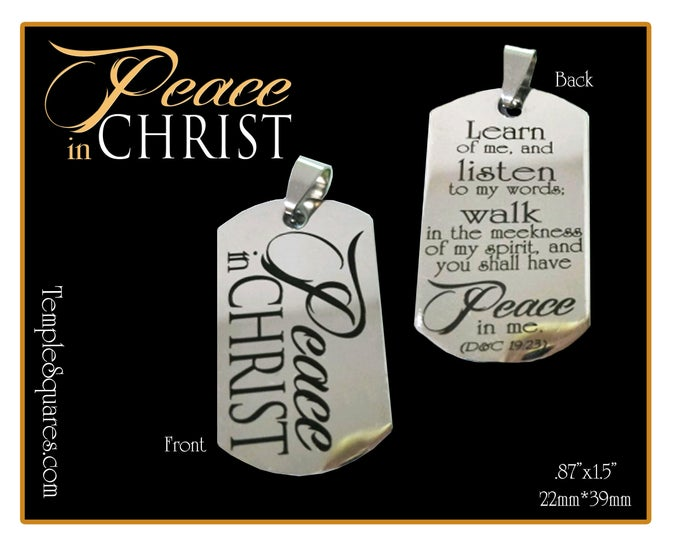 Peace In Christ 2018 YW Young Women Jewelry Necklace, Charm, or Keychain D&C 19:23 Mutual Theme Birthday Gift New Beginnings Gold Silver
