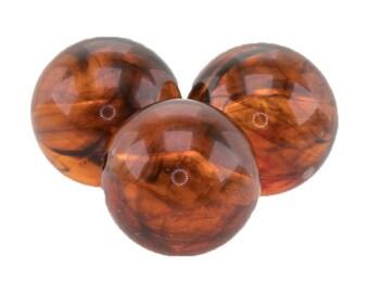 12mm round bead in red tortoise 4Pcs (PK0009_12mm_P5815)