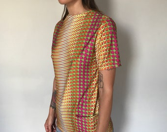 90s Raver Optical Shirt with Pockets