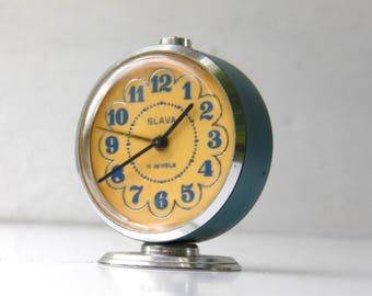 Vintage Mechanical Alarm Clock - Slava - Made in USSR