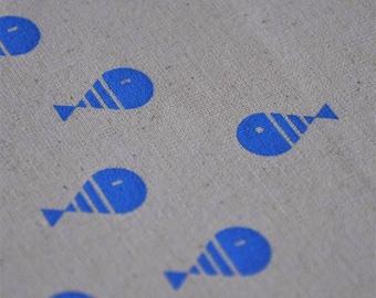 A fish & the flow . Ecrù Tote Bag. Cotton Canvas.