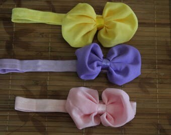 3 nylon baby headbands